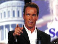 actor  y candidato Arnold Schwarzenegger