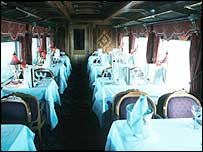 Lavish dining carriage