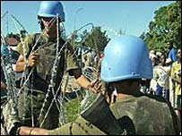 UN soldiers in Bunia