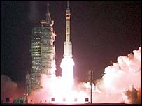 1999 launch of Shenzhou spacecraft on China's Long March rocket