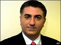 the son of the late Shah, Reza Pahlavi