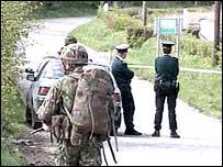 Police security cordon