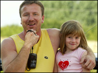Mr Crosno and his daughter