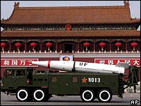 Chinese missile on parade in Beijing (archive)