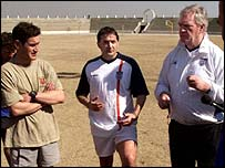 FA Ambassadors Lawrie McMenemy and Gary Mabbutt
