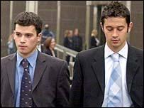 McLeod (left) and Miller (right) outside court