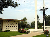 Mausoleum where Bob Hope was placed on Wednesday