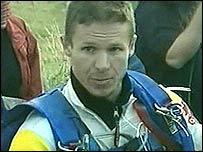 Felix Baumgartner after his flight