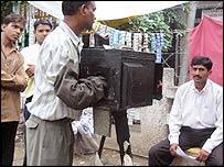 Cameraman and subject