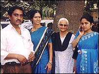 Nisha Sharma (r) with her family