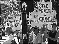 Anti-war demonstrators