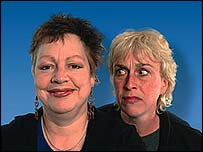 Jo Brand and Helen Griffin