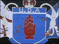 UDA mural on a wall in Belfast
