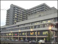 The Royal Free Hospital in Hampstead