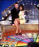 John Leslie with Jenny Powell on Wheel of Fortune