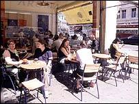 Cafe in Regent Street, London