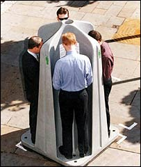 Mobile urinals supplied by Westminster Council
