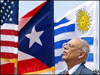 Presidente de Uruguay, Jorge Battle, durante una visita a Puerto Rico