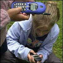 Children using mobile phones, BBC