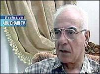 Mohammed Saeed al-Sahhaf in earlier appearance on Abu Dhabi TV