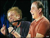 Art Garfunkel (left) and Paul Simon