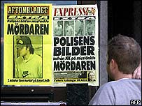 Swedish newspaper front pages
