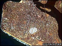 Satellite image of Monrovia