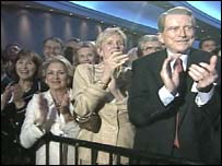 President Bush supporters at a Washington fundraiser