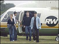 Robbie Williams arrives at Knebworth, picture 2003 Hamish Brown/Idols