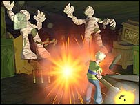Screenshot from Grabbed by the Ghoulies