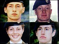 Clockwise, from top left: Sean Benton, James Collinson, Geoff Gray and Cheryl James
