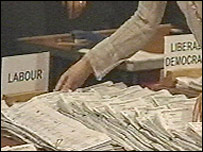 Votes being counted in by-election