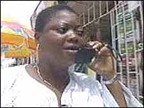 Nigerian mobile phone user