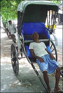 Rickshaw puller in Calcutta