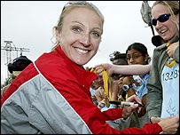Paula Radcliffe smiles
