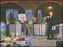 Flautist at memorial service
