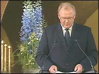 Swedish Prime Minister Goran Persson