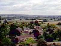 View over East Coker, Somerset