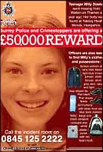 Surrey Police reward poster
