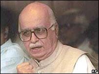 Deputy prime minister LK Advani