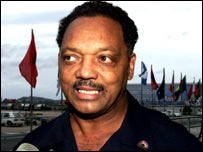Rev Jesse Jackson, civil rights activist