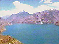 Tajik TV footage of Lake Sarez