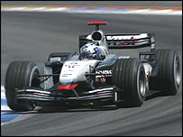 David Coulthard raced well on his way to second place at Hockenheim