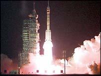 Cohete chino enviado al espacio en 1999