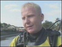 River diver Craig Bickers