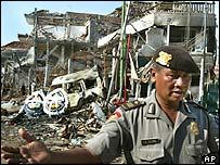 Bomb site in Bali