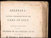 Golfania, or Niceties Connected With The Game of Gold - by George Fullerton, 1842