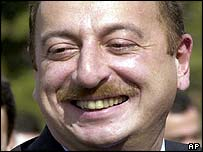 Ilham Aliyev in a March 12, 2001 file photo