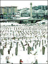 Graves in Sarajevo