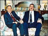 Heydar and Ilham Aliyev
